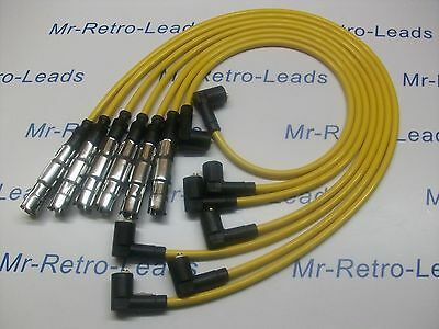 Yellow 8Mm Performance Ignition Leads Will Fit Vw Golf Corrado Vr6 Passat Ht