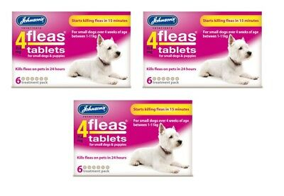 3x Johnsons 4Fleas Small Dog/ Puppy 6 Pack - Posted Today if Paid Before 1pm