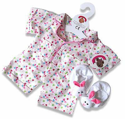 Teddy Clothes fits Build a Bear Teddies Smartie PJs & Slippers Bears Clothing