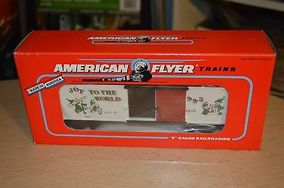 American Flyer S-Gauge 1993 Christmas Boxcar 6-48319 NEW IN BOX