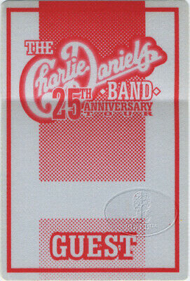Charlie Daniels Band 1995 Tour Backstage Pass Guest 25th Anniversary