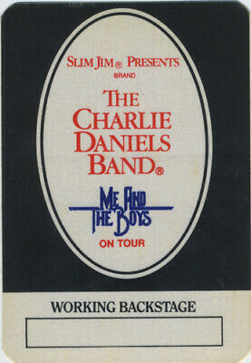 Charlie Daniels 1985 Me & The Boys Tour Backstage Pass