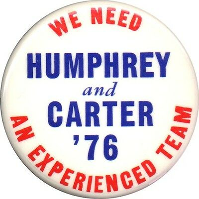 Scarce 1976 Humphrey Carter Dream Ticket Campaign Button (1369)