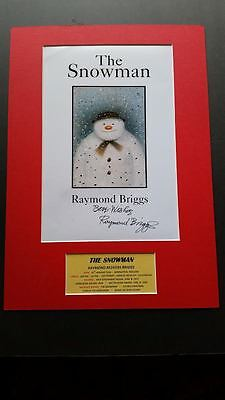 Raymond Briggs - The Snowman Genuine Hand Signed A3 Mounted Photo Display - Coa