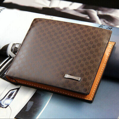 Men's Leather Bifold ID Card Holder Purse Wallet Billfold Handbag Slim Clutch US