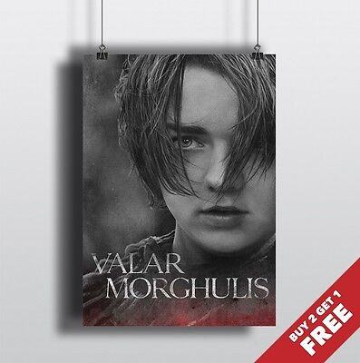 A3 Size Game Of Thrones Posters A4 New Valar Morghulis Set Wall Art Prints