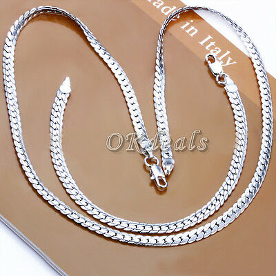 """Hot 5MM 925 Sterling Silver Plated Necklace Chain 20"""" inch Men Women"""
