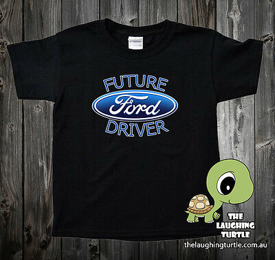 Ford. Future Ford Driver Kids Toddler Black Cotton T-Shirt