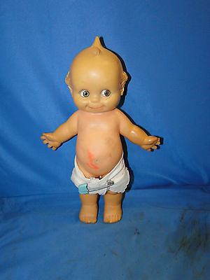 """13"""" Antique Non-Jointed Cameo KEWPIE Doll by Rose O'Neil Original Diaper"""
