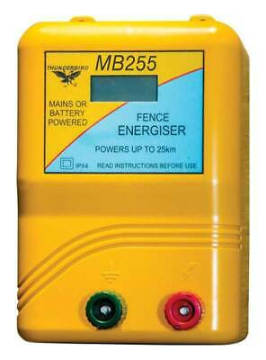 Thunderbird MB255 Mains or Battery Powered Electric Fence / Fencing Energiser