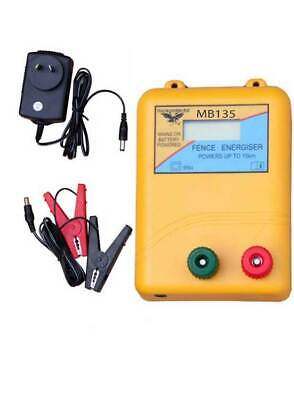 Thunderbird MB135 Mains or Battery Powered Electric Fence Energiser