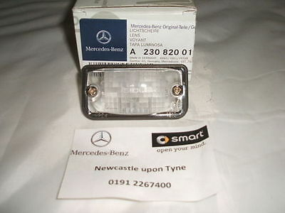 Genuine Mercedes-Benz C209 CLK Rear Number Plate Lens A2308200166 NEW