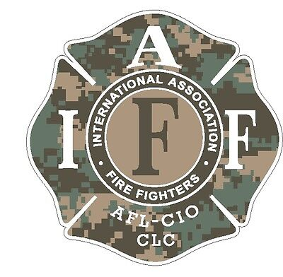 """4"""" IAFF Decal Digital Camo Pattern Exterior Mount READ AUCTION"""