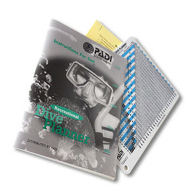 Padi Dive Planner with instructions RDP or eRDP Multi-level