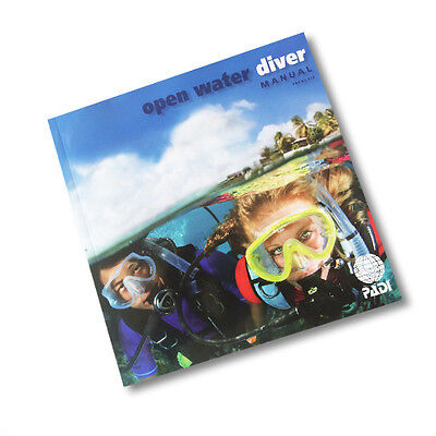 PADI Open Water Manual with dive planners RDP or eRDPML