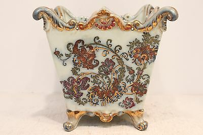"""Beautiful Chinoiserie Floral Pattern Porcelain Square Orchid/ Flower Pot 6"""""""