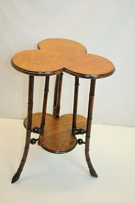 Edwardian Victorian Century Trefoil Bamboo Occasional Side table Stand c.19th