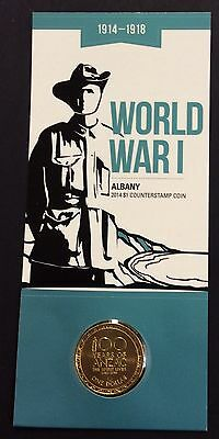2014 $1 world war 1- Albany counter stamp