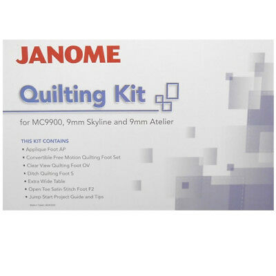 Janome Quilting Kit for MC9900 & Skyline S5 Extension Table Stippling Patchwork