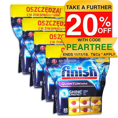 240 Finish Lemon Quantum PowerBall DISHWASHING Power Gel Tablets for Dishwasher