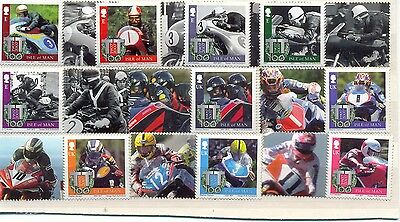 Isle of Man TT Races 2007 Smaller print and Different perfs.mnh set of 10