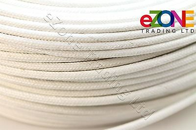 2mm Heat Resistant High Temperature Glass Fibre Wire cable, White 10m Fryer
