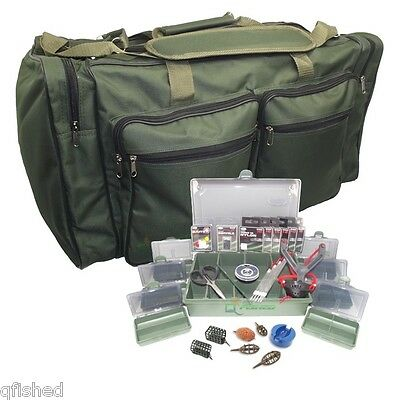 Match Fishing Tackle Box Set With Tackle Bag Swivels Floats Shot Method Feeders