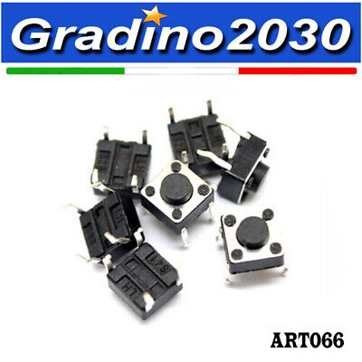 N.20 - Micro interruttore Pulsante switch tattile 4 pin 6x6x5mm Reset Arduino