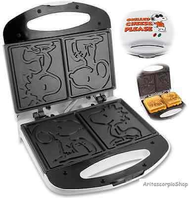 Sandwich Grill Maker Snoopy Waffle Griddle Omelet French Toast Breakfast kitchen