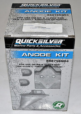 Quicksilver Anode Kit 888756Q04 For use on MR & Alpha One