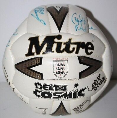SIGNED MITRE England national football team Logo BALL -FREE Postage [PL1000]