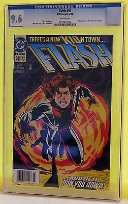 Flash #92  Cgc 9.6 - White Pages **1St Appearance Of Impulse (Bart Allen)**