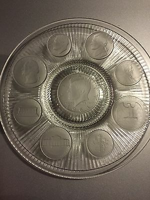 Vintage Coin Glass Collectors Plate