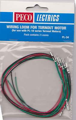 Peco Lectrics PL-34 Wiring Loom Model Railway Turnout Point Motor PL-10 New