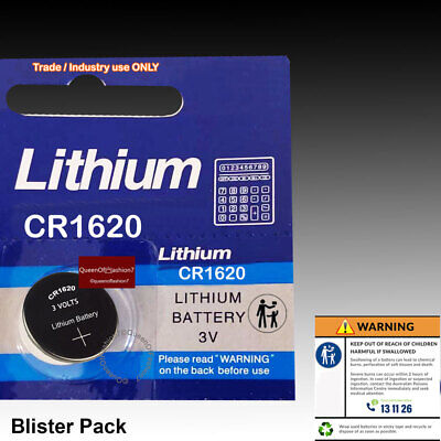 20X CR1620 Blister Battery Lithium 3V Cell/Button Batteries Sydney Local Post