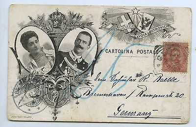 1897 PT PU UB POSTCARD KING HUMBERT 1ST OF ITALY ASSASSINATED IN 1900 q91