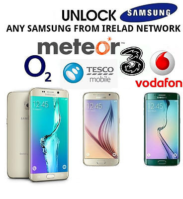 Unlock Code For Samsung Galaxy A3 2017 A5 2017 METEOR VODAFONE O2 TESCO IRELAND