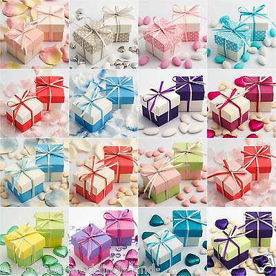 Luxury Two Tone Wedding Favour Boxes & Lids DIY Baby Shower Party Spring Colours