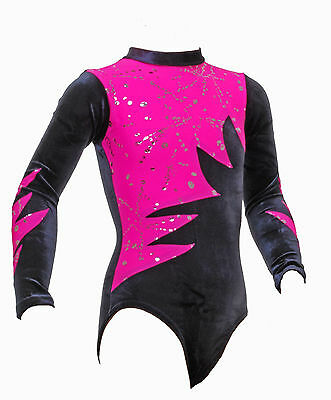 Omega     Girls / Ladies / Gym / Dance / Gymnastic Leotard   Pink & Black