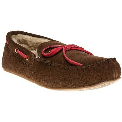 New Mens Joules Brown Moccasin Suede Slippers Slip On