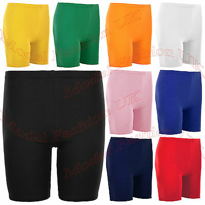 1 Pair Girl Cotton Summer Short Various Colours Stretch Quality For School/sport