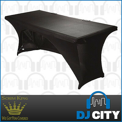 SCRIM KING 6 Foot Table Stand Scrim in Black - Lycra Stand Cover