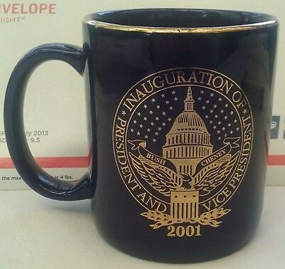 2001 presidential inauguration commemorative coffee cup
