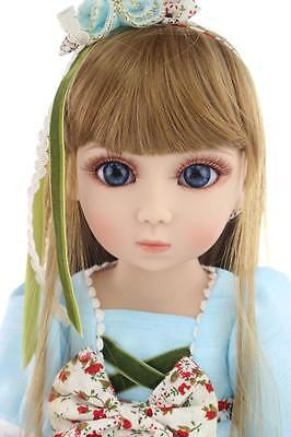 New 1/4 Handmade PVC BJD MSD Lifelike Doll Joint Dolls Baby Toy New Vanessa Gift