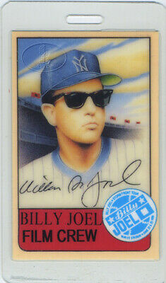 Billy Joel 1989-91 Storm Front Laminated Backstage Pass