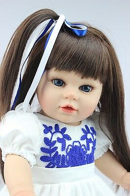 New Cute Handmade PVC Reborn Baby dolls Lifelike Doll Baby Toy New Quintina Gift