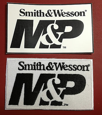 Smith & Wesson `military & Police`   Embroidered Patch +  Smith Decal /sticker