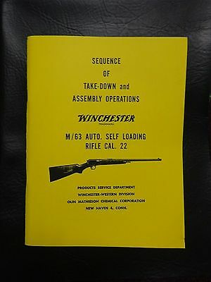 Winchester model 63  manual approved by Winchester 35 yrs ago