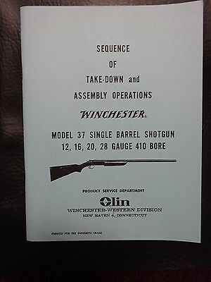 Winchester model 37  manual approved by Winchester 35 yrs ago