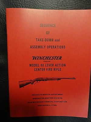 Winchester model 88  manual approved by Winchester 35 yrs ago